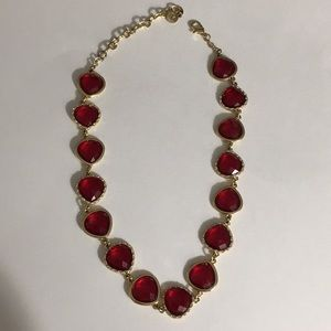 Beautiful red/gold sparkling necklace